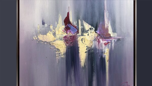 Lilac abstract painting